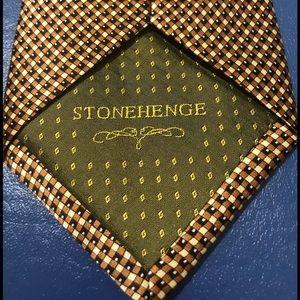 Stonehenge silk tie